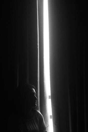 SHARP SUN Mother Black Blackandwhite Childhood Close-up Curtain Day Drapes  Home Interior Indoors  Monochrome One Person People Real People Sharp Sharp Light Window