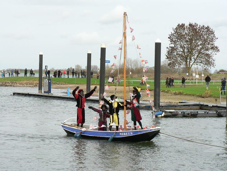 Boat Canal Men Nautical Vessel Outdoors Piet Real People Recreational Pursuit Transportation Travel Weekend Activities Zwarte Piet