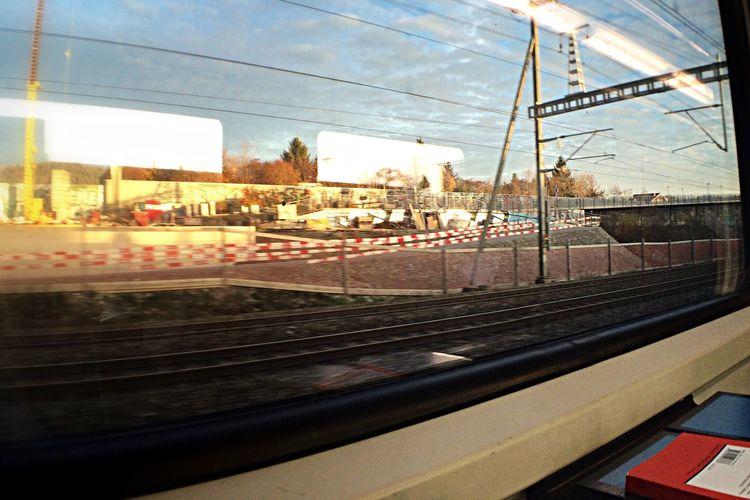 SBB Im Zug von Bern zurück nach Zürich.