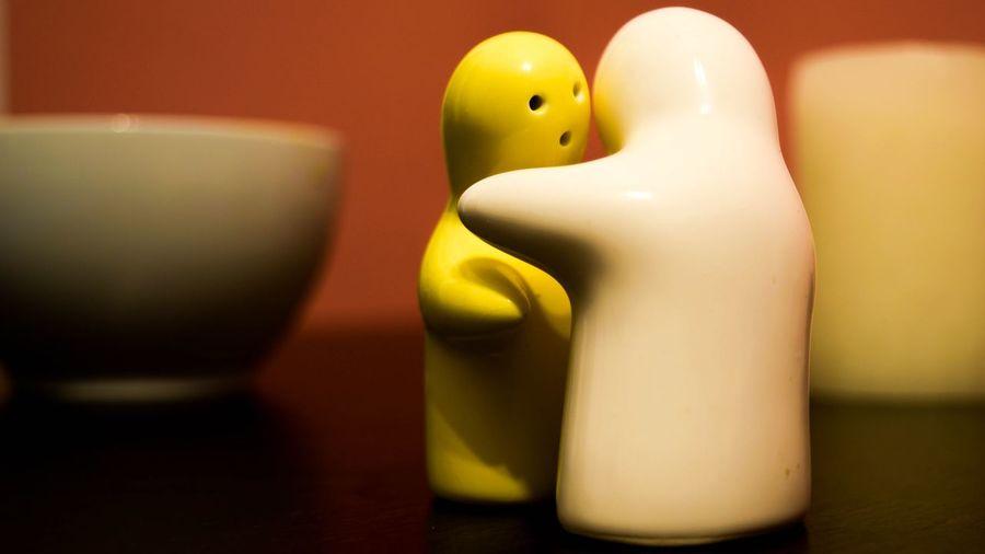 No People Indoors  Brunomphotography EyeEm New Here Salt Pepper Food Friends Friendship Table Hug Photo Photography Long Goodbye