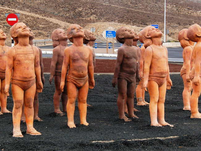 We came from the Stars Roundabout Canary Islands Fuerteventura Roundabout Art Roundabout Traffic SPAIN Statue Bestshotz_usa Eyem Best Shots Female Likeness Male Likeness No People Outdoors