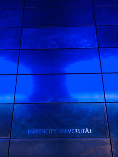 U-Bahn Station HafenCity Hamburg Blue Eyeemselects U-Bahn Hamburg Hafencity Text Communication Western Script Blue Sign No People Indoors  Information Wall - Building Feature Day Flooring Architecture High Angle View Guidance Close-up Script Tile Technology Information Sign Non-western Script