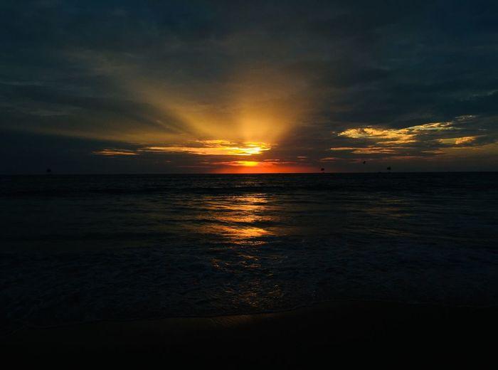Sky Sunset Water Sea Cloud - Sky Scenics - Nature Beauty In Nature Horizon Tranquility Tranquil Scene Horizon Over Water Beach Land Orange Color Non-urban Scene Idyllic Nature No People Outdoors