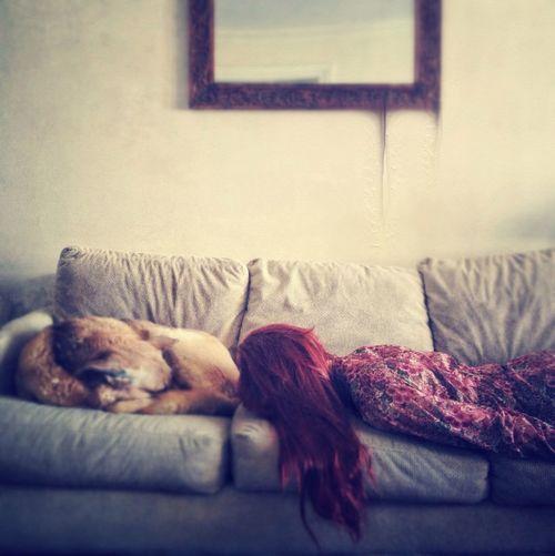 Girl and dog,