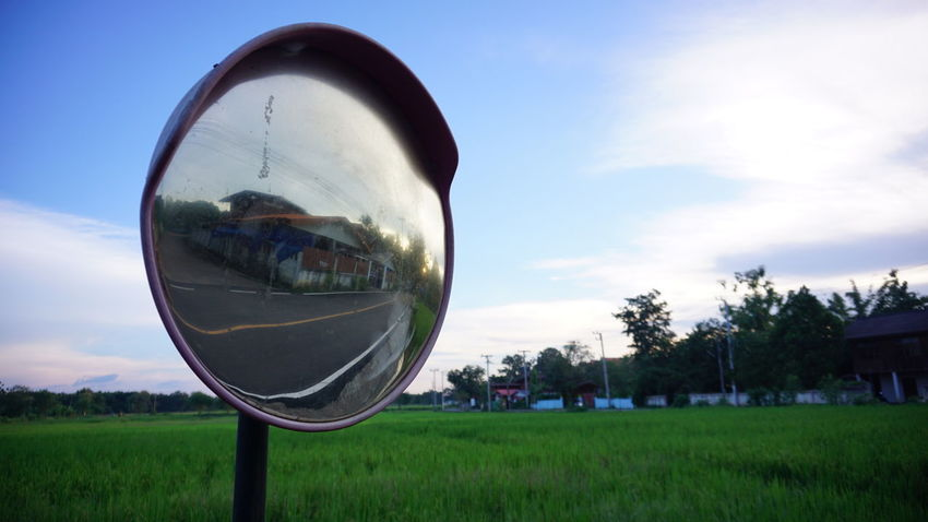 mirror Convex Convex Mirror Mirror Peaceful Tree Reflection Bubble Circle Sky Grass Close-up EyeEmNewHere