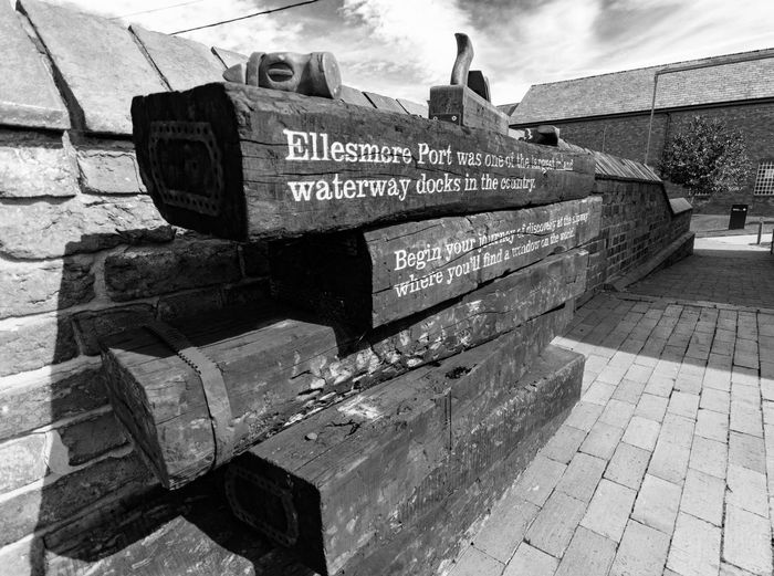 Waterways Museum. Ellesmere Port Architecture Canals And Waterways Liverpool, England Maritime Maritime Museum Black And White Signs