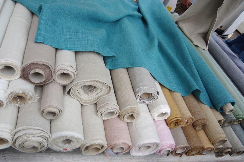 Linen textiles fabric market interior design crafts hand made cloth
