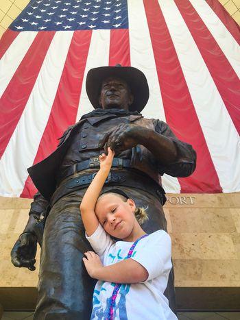 The Duke John Wayne The Duke American Flag Childhood Orange County EyeEmNewHere Statue