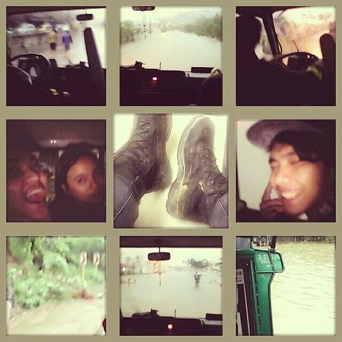 A Firetruck , a Flood , a few Goodfriends , and a PairOfBoots that saw it all... Stranded Olongapo Adventure