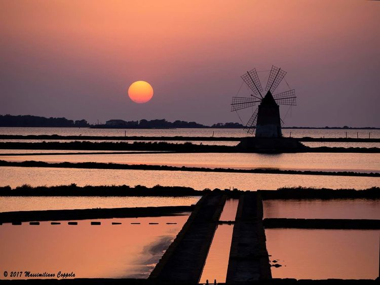 Reflection Sky Nature Outdoors Beauty In Nature Sunset Water Marsala Saline Sunset No People Water Scenics Tramonto;sole;cielo Tramonti Tramonti__italiani Tramonti Siciliani