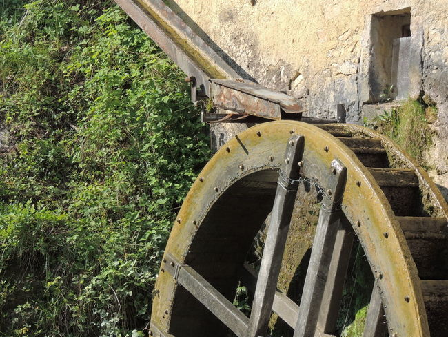 Molinetto Della Croda Abandoned Architecture Built Structure Day Nature No People Outdoors Transportation Tree Watermill Wheel