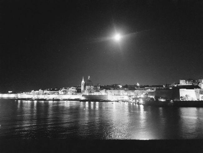 Harbour City Night Reflection Moonlight