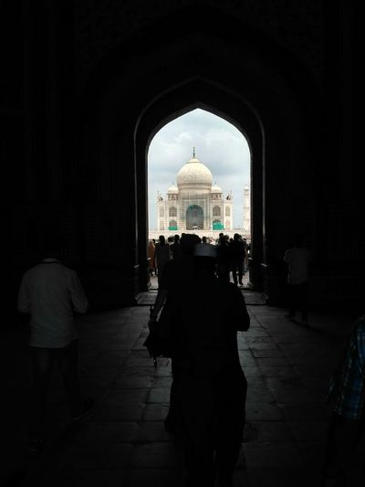 Taj Mahal Agra Point And Shoot Architecture Old Shahjahan Mumtaz Vacations Arch Architecture Built Structure Indoors  People Only Men Politics And Government Day