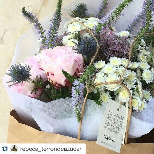 Repost @rebeca_terrondeazucar ・・・ Unas flores no curan heridas pero son una bonita manera de decirle a alguien que estás ahí, que te preocupas por ella y que te importa... Al menos esa es la intención😊 Como siempre @aleafloristerias. Gracias, Seve! Alea Peonias Peony  Cardo Alliums Stallium Vigo SPAIN Galifornia Instavigo Veronicas Lovemyjob