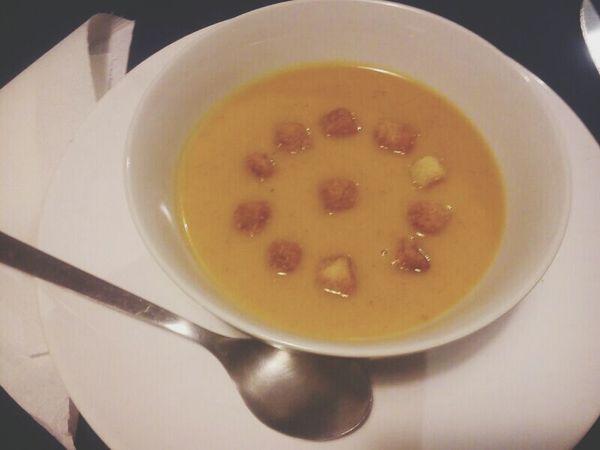 Sopa de Calabaza con Curry. Food