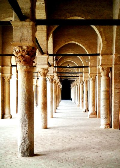 Architectural Column History Day Indoors  Okbaa Ibn Nafaa