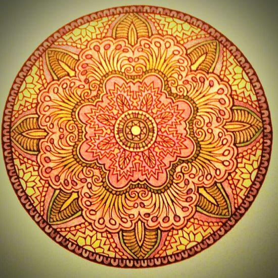 Mandala Coloring Colorful Colored Pencil Beautiful Coloring Mandalas!