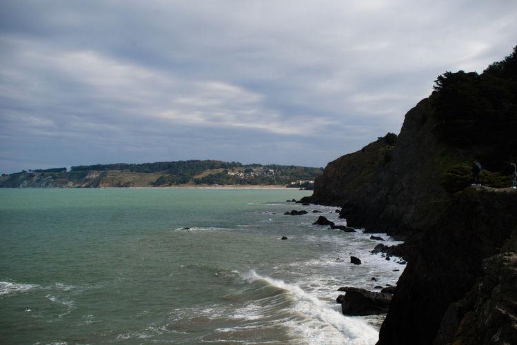 Beach Beauty In Nature Coastal Feature Coastline Day Horizon Over Water Landscape Nature No People Outdoors Scenics Sea Sky