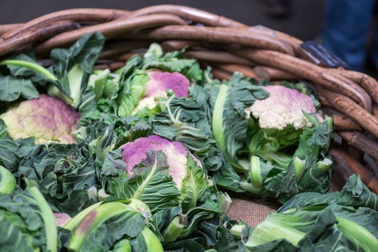 Close-up of cabbage in market