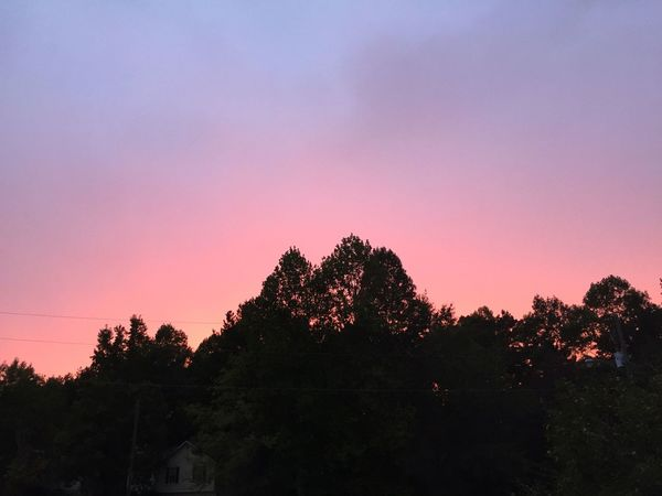 Pretty pink glowing sunset tonight. Sunset #sun #clouds #skylovers #sky #nature #beautifulinnature #naturalbeauty #photography #landscape EyeEm Best Shots - Sunsets + Sunrise Sunset