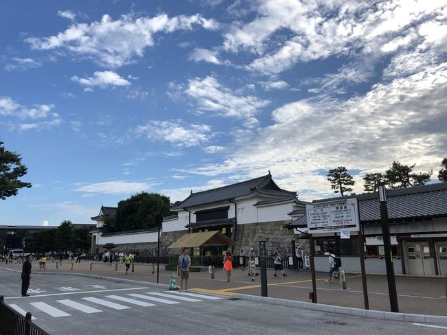 Gate Japanese Traditional Architecture Sightseeing Spot Architecture Kyoto Nijo Castle Old Buildings Summer Sky And Clouds
