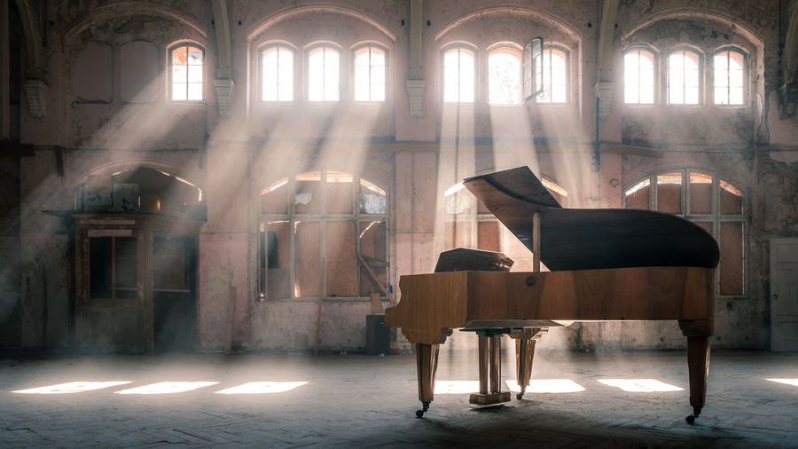 EyeEmNewHere Architectural Column Architecture Day Indoors  Lost Places Music No People Piano