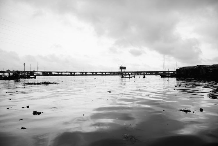 Sky and water Architecture Beauty In Nature Bridge Built Structure Cloud - Sky Connection Day Nature No People Outdoors Pier Reflection Scenics - Nature Sea Sky Tranquil Scene Transportation Water Waterfront