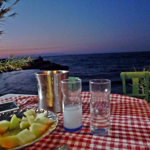 🥂 Anisette Fish Table Agean Sea Fruit Food Water Sea Drink Outdoors Freshness No People Drinking Glass Day Tablecloth Summer Plate Horizon Over Water Beach SLICE