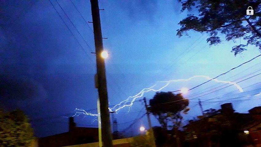⚡Rayo⚡ Rayo Rain Storm Tormenta Cloud - Sky Nubes #clouds Night No People Tree Sky Illuminated Outdoors Low Angle View