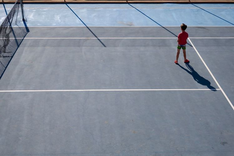 Adult Adults Only Boy Court Day Full Length Light And Shadow Lines One Man Only One Person Only Men Outdoors People Sport Standing Tennis Week On Eyeem Young Adult Be. Ready.