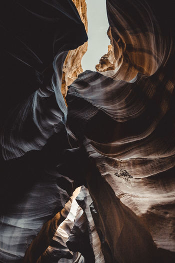 Low angle view of rock formation in cave