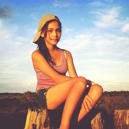 My sister People Littlegirl Sunset Enjoy