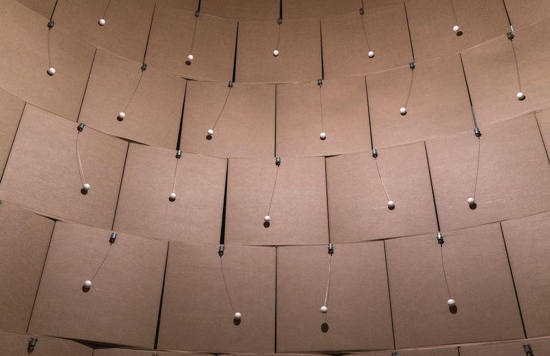 Sound. Zimoun Macinternational Sculpture Art Installation Box Cardboard Geometric Shapes