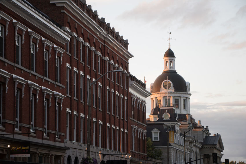 Kingston. The city that was first founded in 1673. Instrumental in our early Canadian history from the War of 1812, to Confederation. Architecture Building Exterior Built Structure City Cloud - Sky Cultures Day Dome Low Angle View No People Outdoors Police Station Sky Statue Travel Destinations