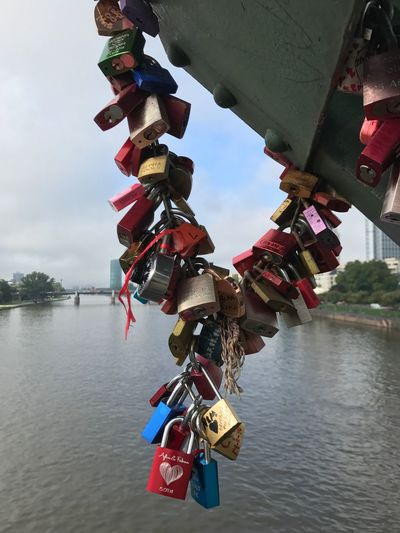 Padlock Lock Security Love Lock Hanging Safety Love Protection Hope Hope - Concept Railing River Luck Metal Trust Water Variation Safe Bridge - Man Made Structure Unity
