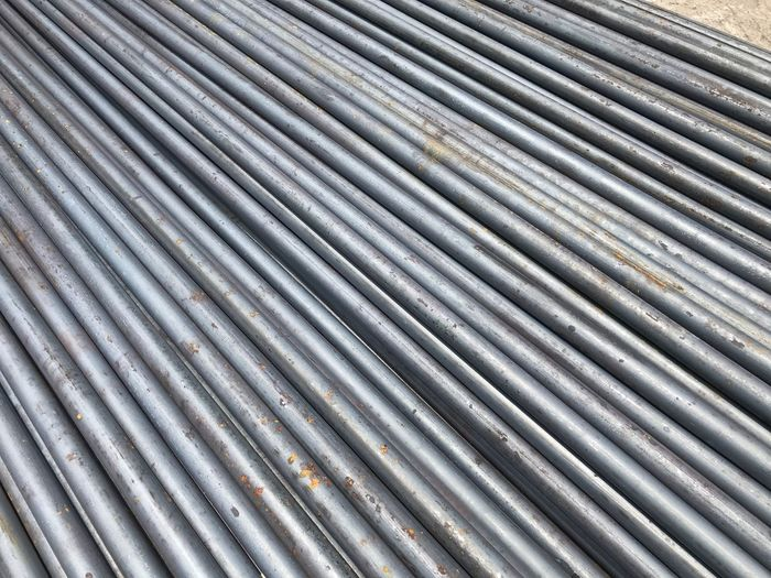 Full frame shot of metallic pipe