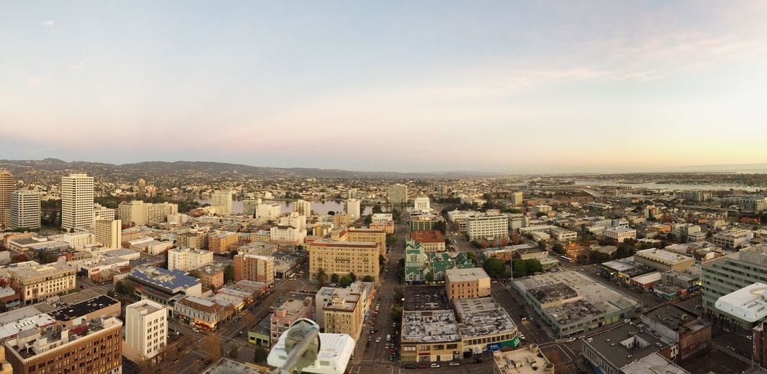 Hello Oakland - view from the very top of the Oakland Tribune Tower