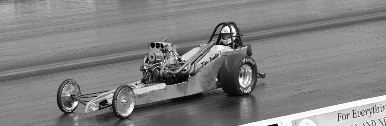 Black And White Classic Dragster Dragstripphoto Mopar Muscle Old-fashioned Speed Transportation V8