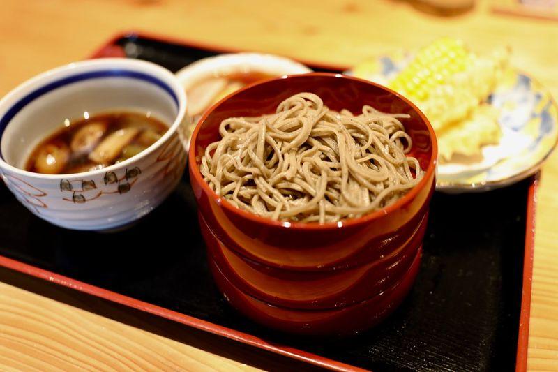 """Izumo"" Buckwheat with Duck soup & Tempura Buckwheat 出雲蕎麦 #日本蕎麦 Japanese Food"
