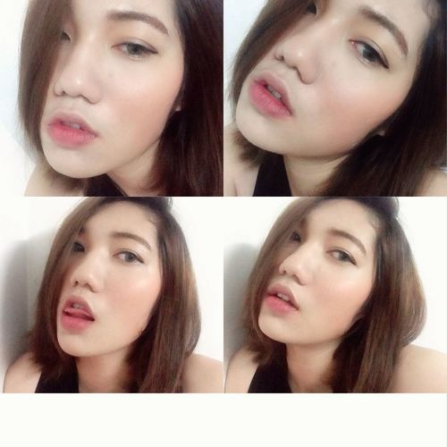 4shots Selfie Asian Girl Short Hair Thai Girl