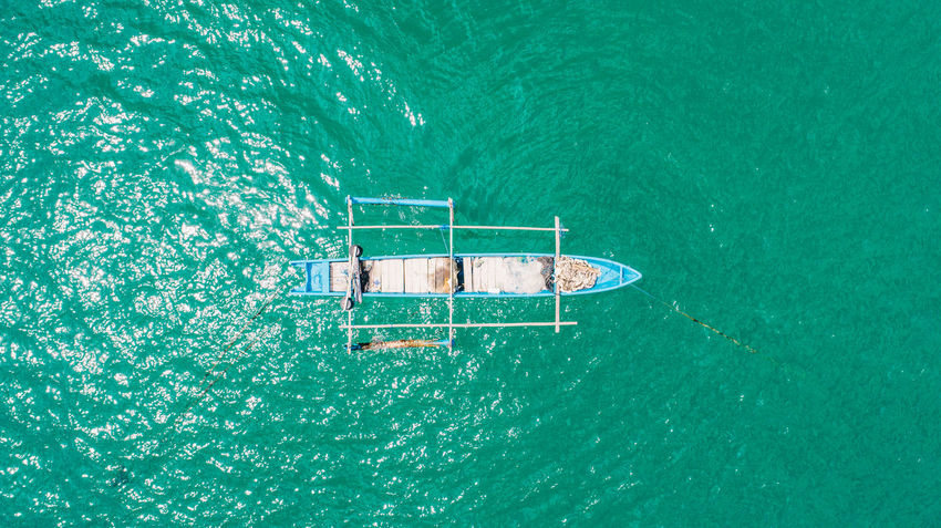 Day Dronephotography Fishing Boat Fromabove High Angle View Nature No People Outdoors Swimming Pool Water