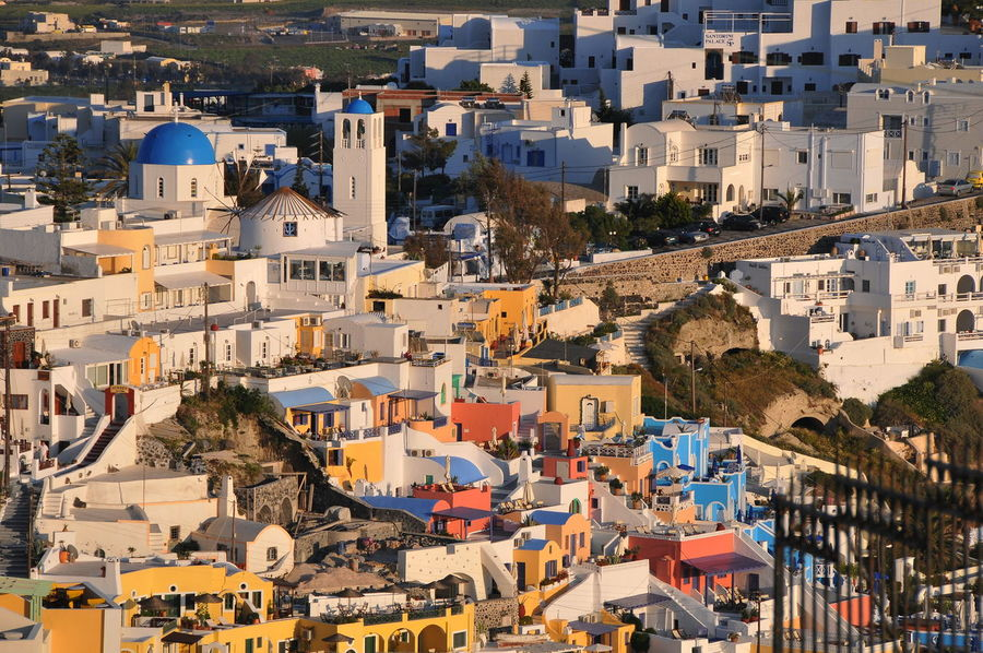 view Architecture Building Exterior Built Structure Business Finance And Industry City Cityscape Day High Angle View House Levitation No People Outdoors Residential Building Roof Santorini Santorini View