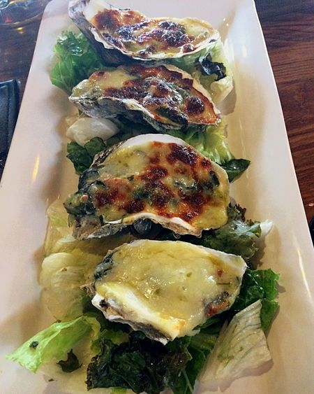 Ostiones Oysters Cheese! Oysters Rockefeller! !!! Mexico