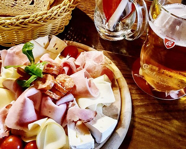 Budweiser Budvar Beer Basket Table Food And Drink Indoors  No People Food Freshness Close-up Ready-to-eat Budweis Budwiser Budweiser Beer Budw