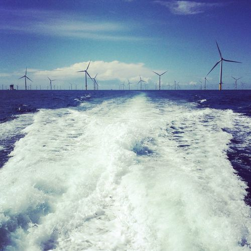 Alternative Energy Work Sailing Working Hard Workboat Wind Turbine Wind Power Fuel And Power Generation Environmental Conservation Renewable Energy Sea Sky Nature Water Outdoors No People Power In Nature Photography Day Beauty In Nature