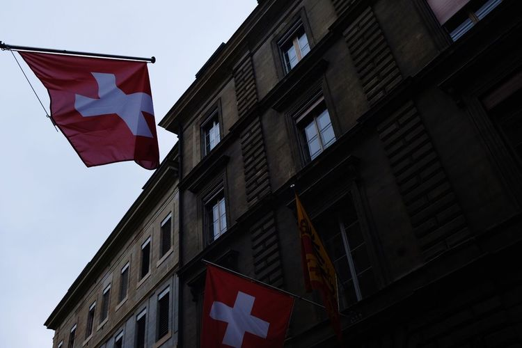 Swiss never disappoints! Cheese Lindtt Patriotism Flag Cultures Sky Building Exterior Architecture Democracy National Flag