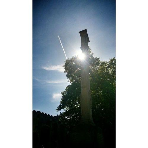 Dedhamvale Dedham Sun Vapourtrail memorial bluesky sunbeam sunnydays sunshine sunny sunporn skyporn cloud_skye beauty beautifulday instasun instasunny androidography androidography ig_captures instascenic instagraphy insta_sky_lovers
