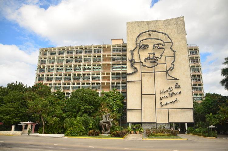 Architecture Art Blue Building Built Structure City Cloud Cloud - Sky Cloudy Cuba Day Modern No People Outdoors Sky Tree