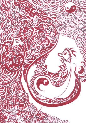 phot of my ball point pen drawing Dodleart Photo Of Pen Drawing Red