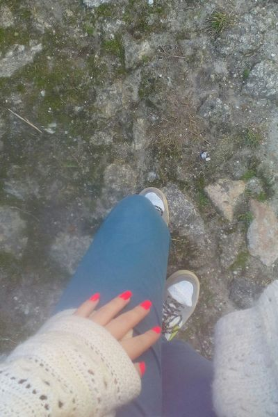 The Purist (no Edit, No Filter) Taking Photos Beautiful Hand Colors That's Me Pink Hello World Blue Girl Its Me Me Nails My Real Nails Hands Legs Sensual_woman